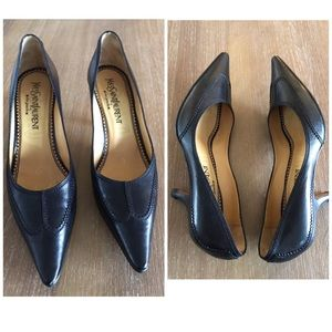 YSL Yves Saint Laurent Black heels size 7.5